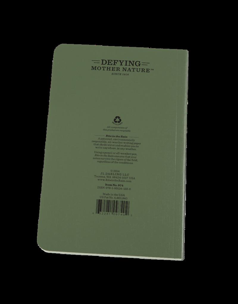 """Rite in the Rain 4 5/8"""" x 7 1/4"""" Soft Cover Book"""