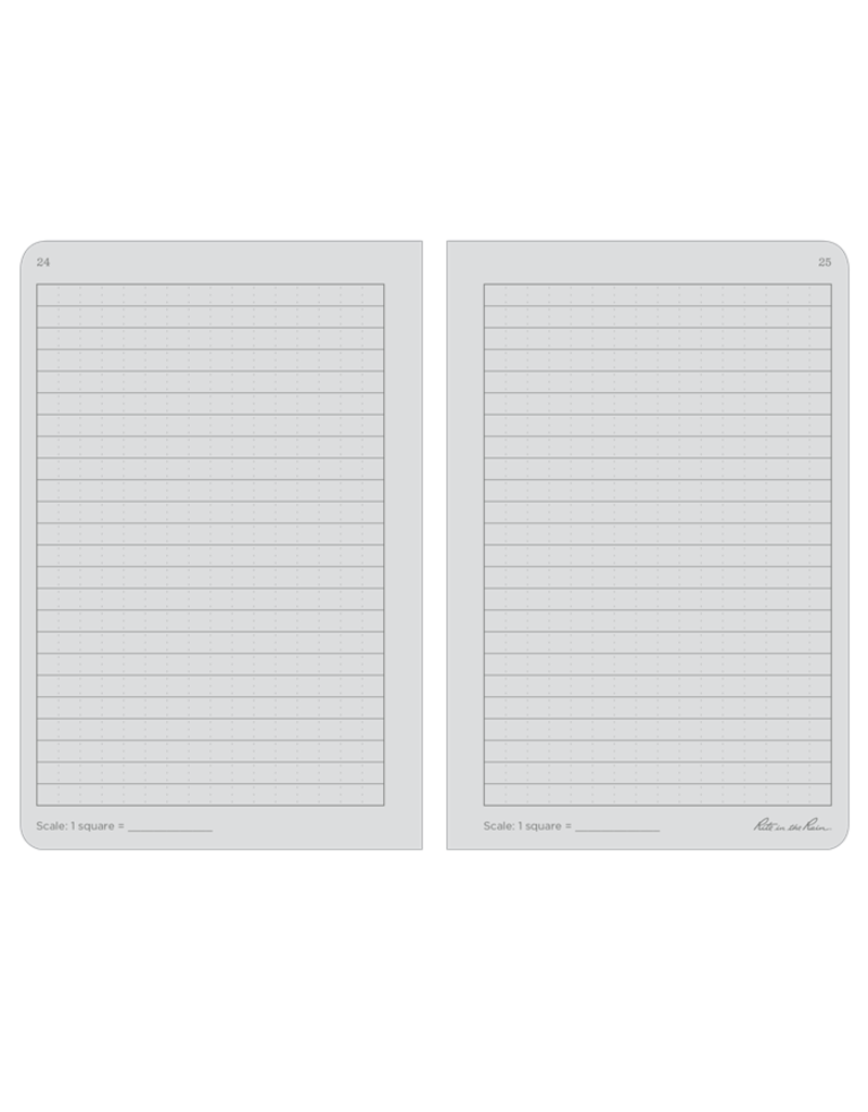 "Rite in the Rain 4 5/8"" x 7"" Stapled Notebook (3 pack)"