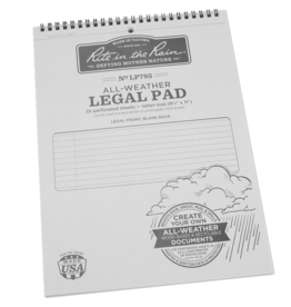 "Rite in the Rain 8 1/2"" x 11 5/8"" Top Spiral Legal Pad"