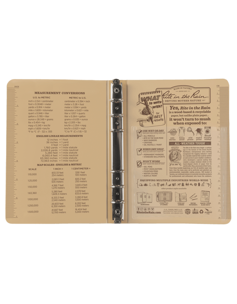 "Rite in the Rain 1/2"" Ring Binder"