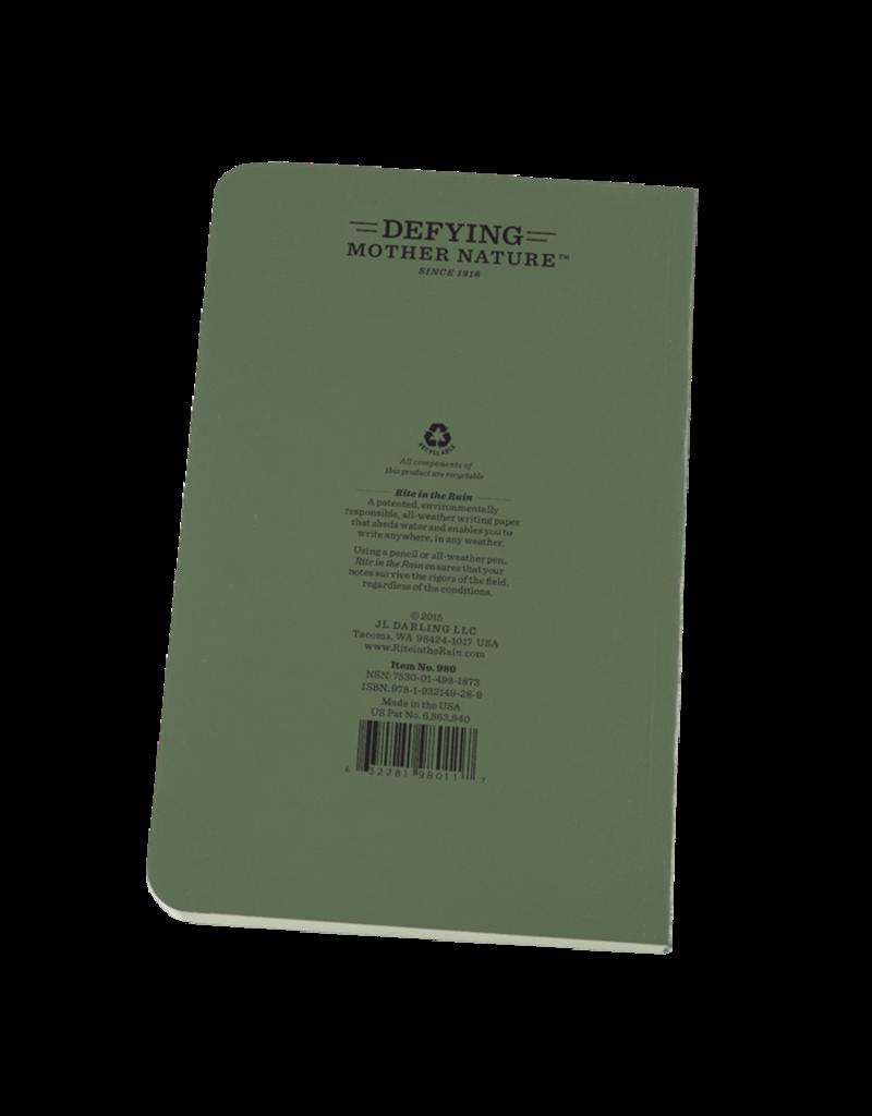 """Rite in the Rain 4 5/8"""" x 7 1/4"""" Tactical Field Book"""
