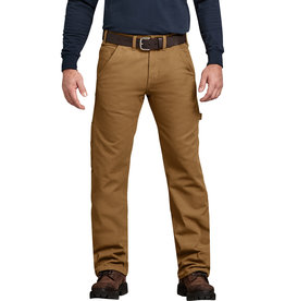 Dickies Relaxed Straight Fit Flannel-Lined Carpenter Duck Jeans