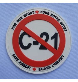 Custom Patch Canada All Against C21 PVC Patch