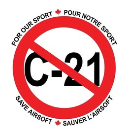 Custom Patch Canada All Against C21 Sticker
