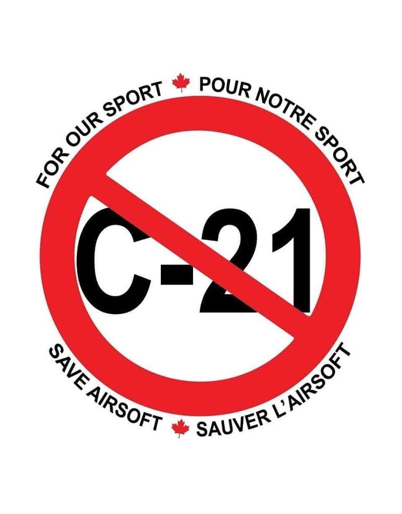 Custom Patch Canada All Against C21 Sticker