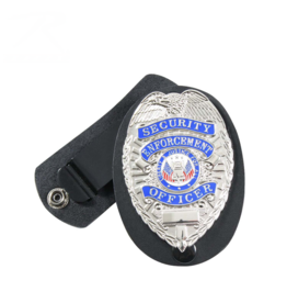 Rothco Leather Clip-on Badge Holder / Swivel Snap