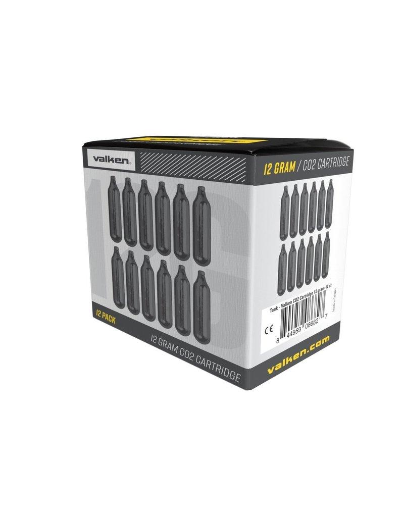 Valken 12g CO2 Cartridges - 12 Count