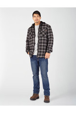 Dickies Fleece Hooded Flannel Shirt Jacket with Hydroshield