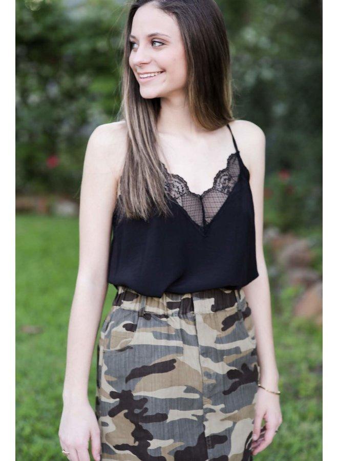 Army Scrunch Skirt
