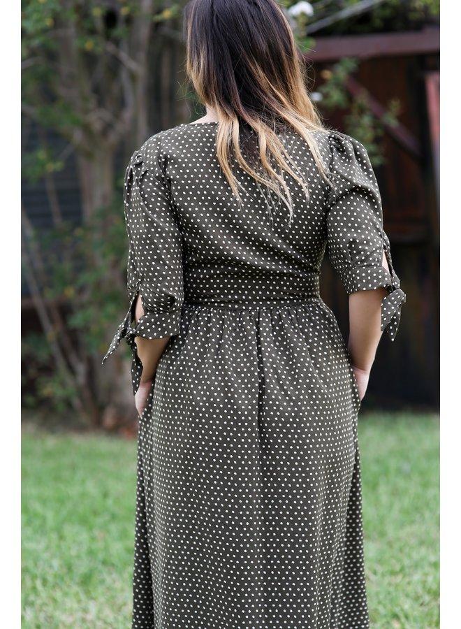Olive Picnic Dress