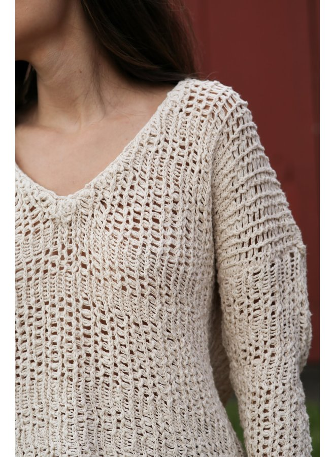 V-Neck Loose&Tight Knitted Sweater