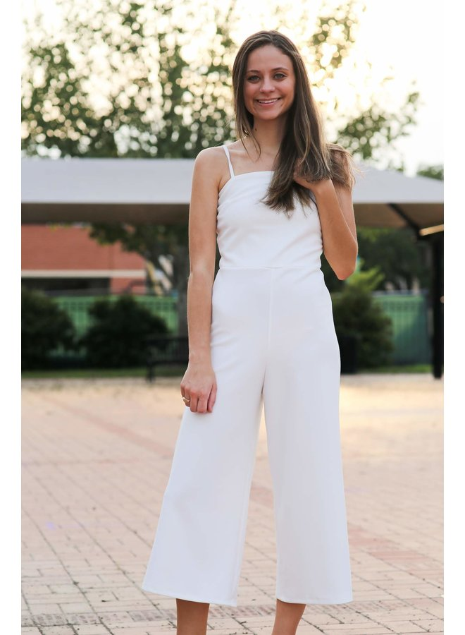 Heavy Knit Culotte Cami Jumpsuit