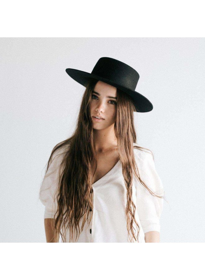 Dahlia Boater -Black