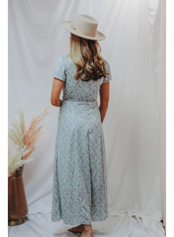 Sky Blue Bloom Dress