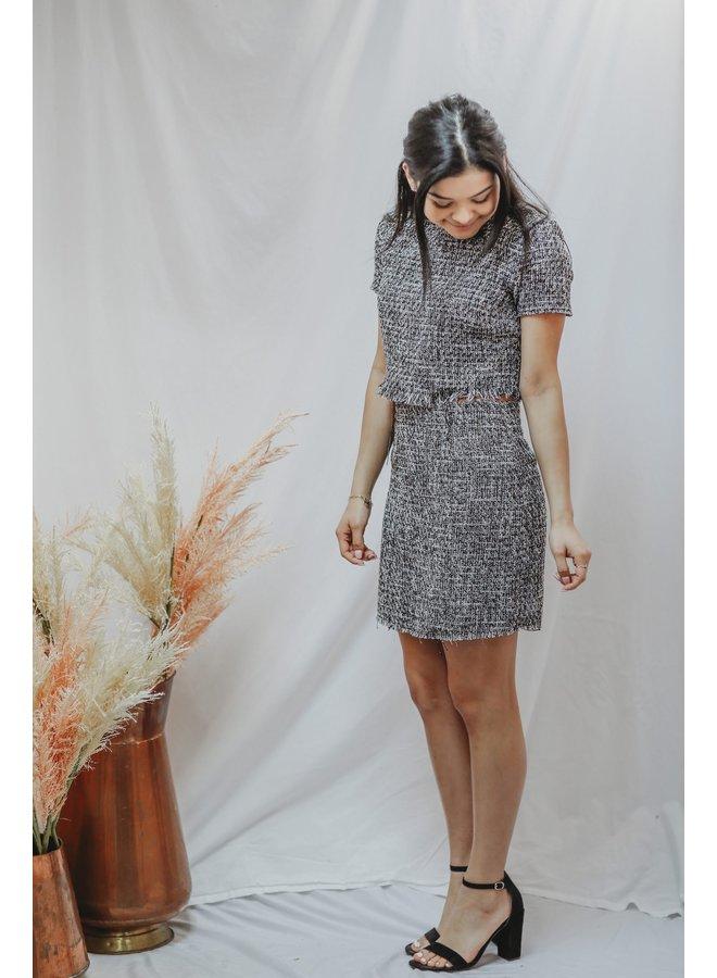 Geneva Tweed Skirt