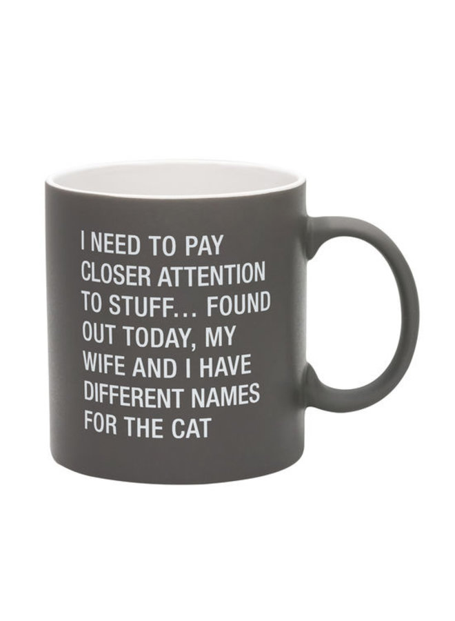 Names for the Cat Stoneware Mug