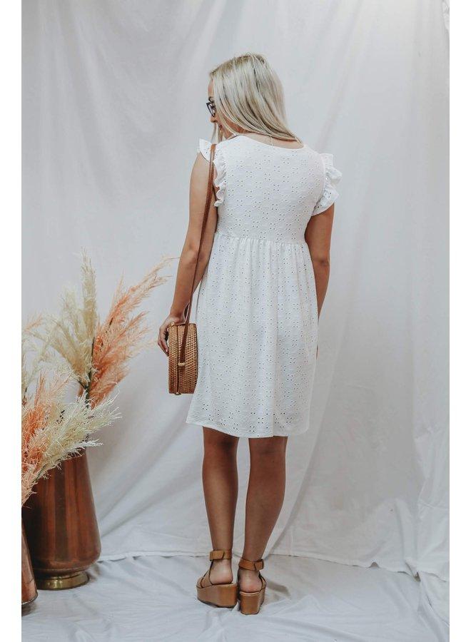 Ivory Babydoll Eyelet Dress