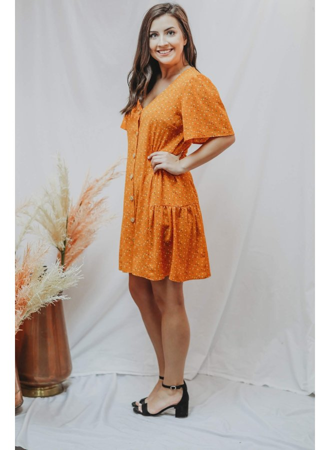 Orange Dots Dress
