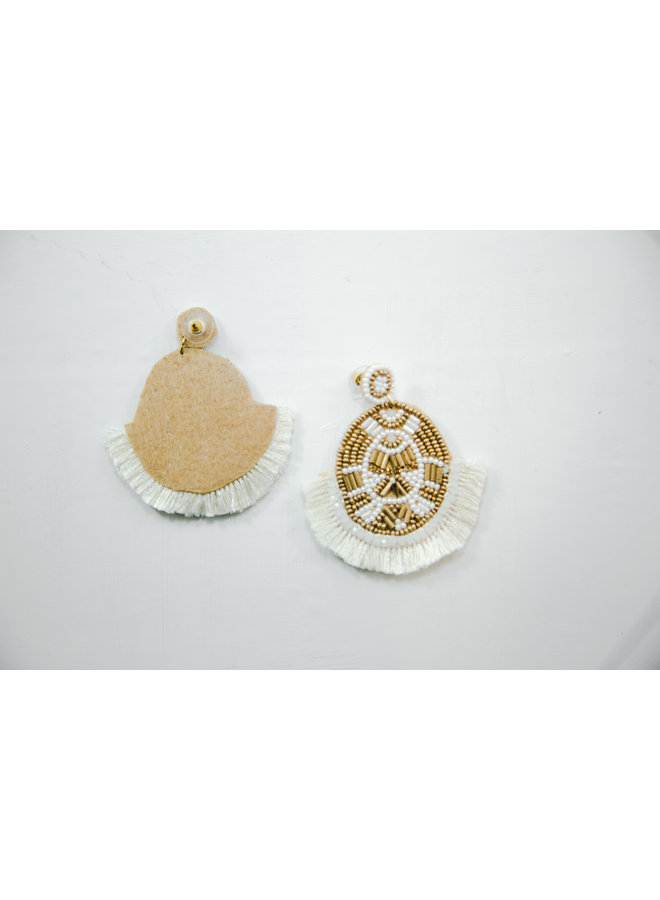Viola Earrings Gold Medallion