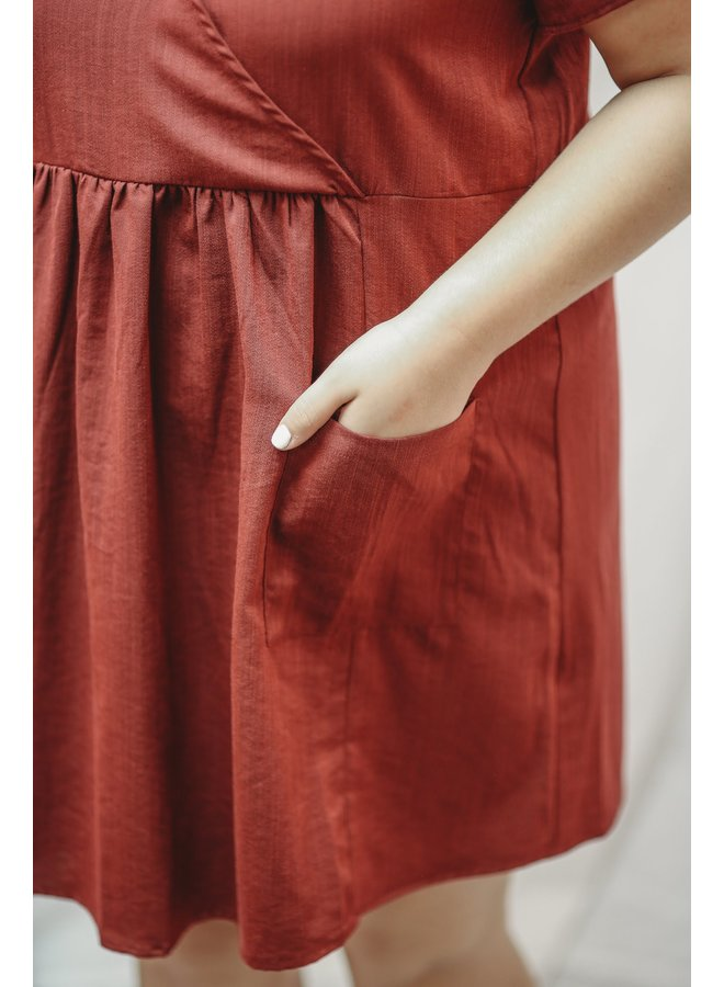 Burgundy Mini Tunic Dress