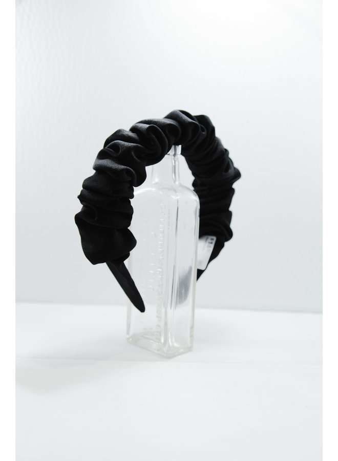 Mabel Scrunch Headband Black