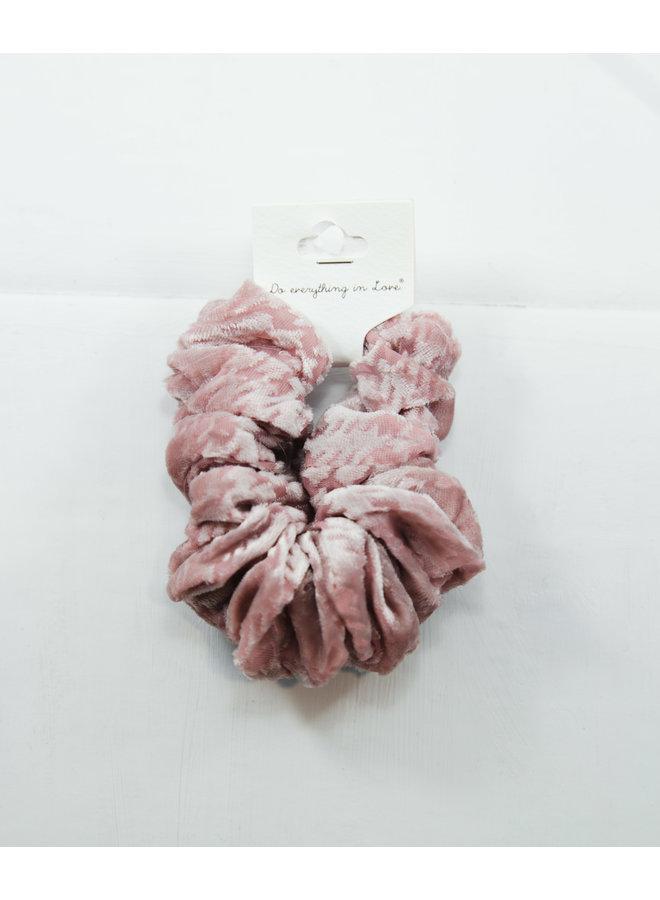Velvet Scrunchies - Pink