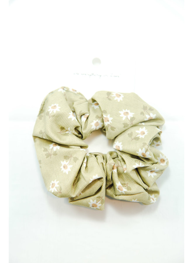 Wildflower Fields Scrunchie - Green