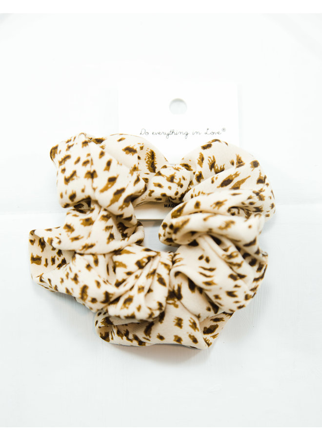 Cheetah Spotted Scrunchie