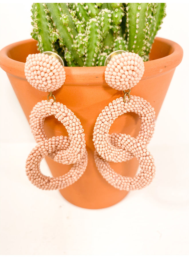Hannah Beaded Interlocking Circle Earrings