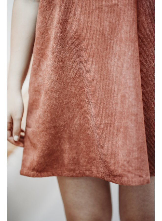 Mauve Corduroy Dress