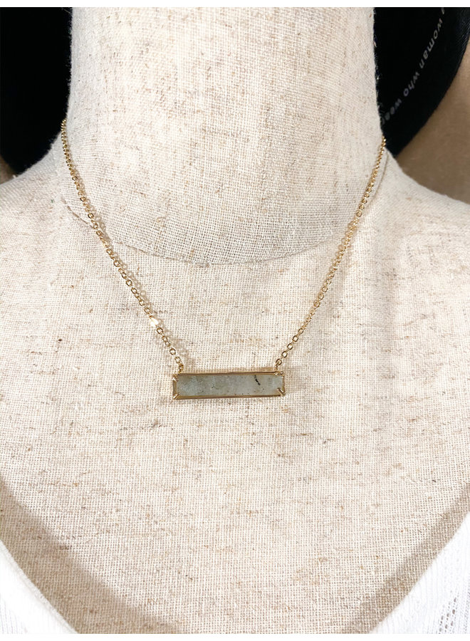 Stone Bar Necklace