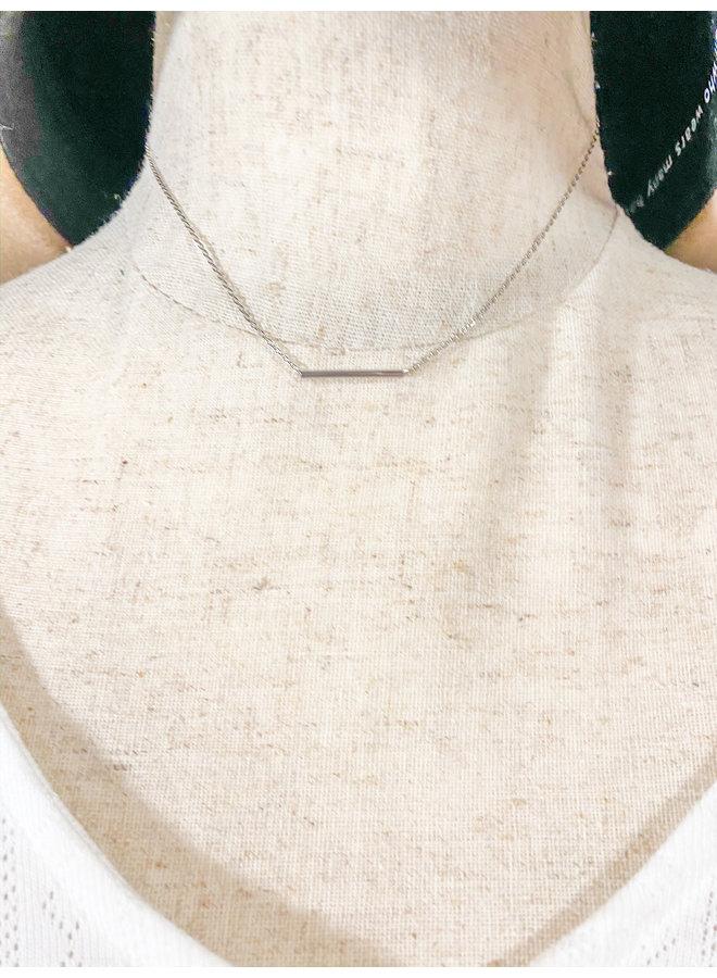 Silver Bar Necklace