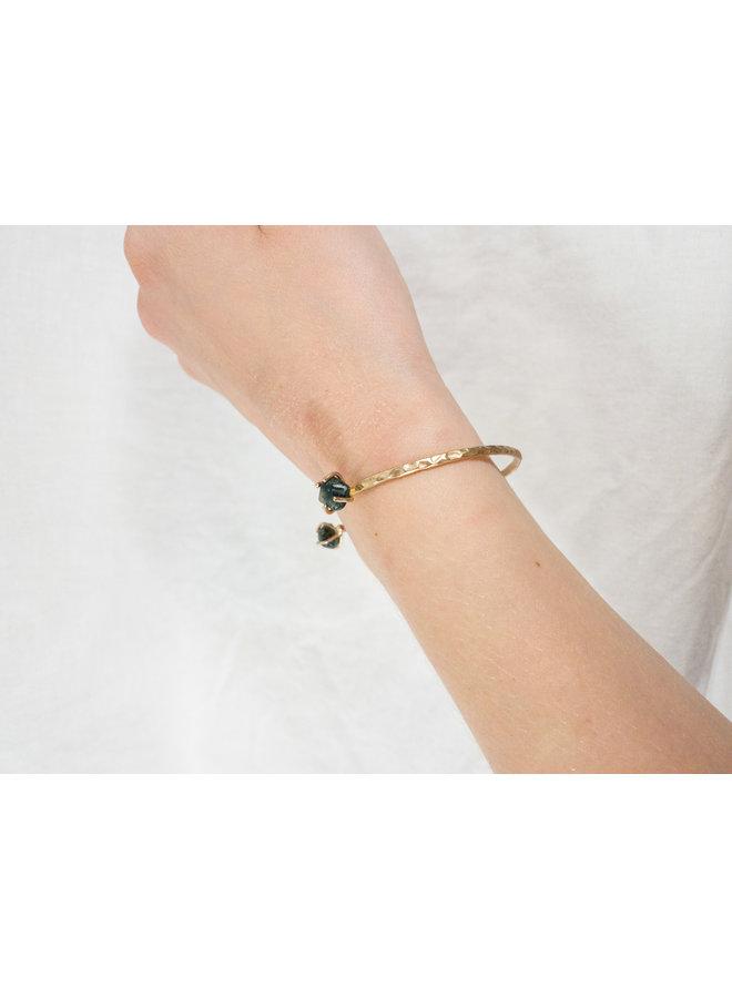 Open Cuff Stone Bracelet