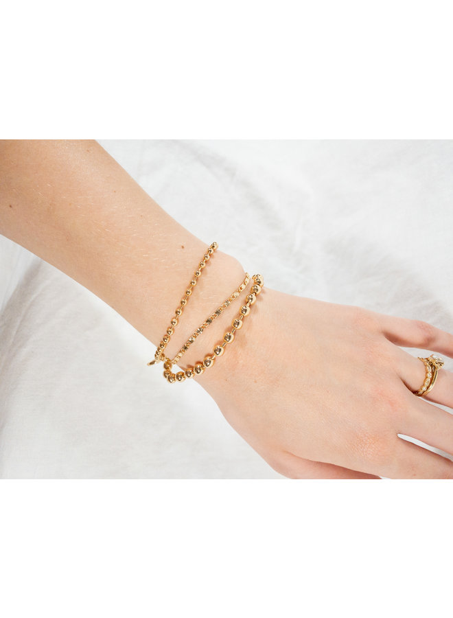 Triple Thread Gold Bracelets