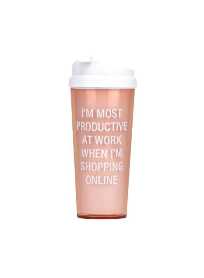 Shopping Online Acrylic Travel Mug
