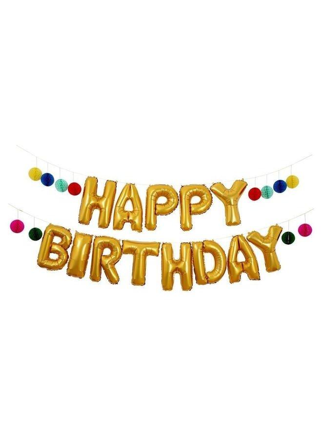 Happy Birthday Balloon Garland Kit