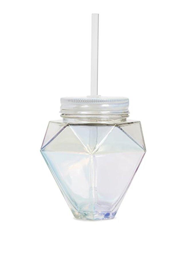 Diamond -13OZ GLASS SIPPER
