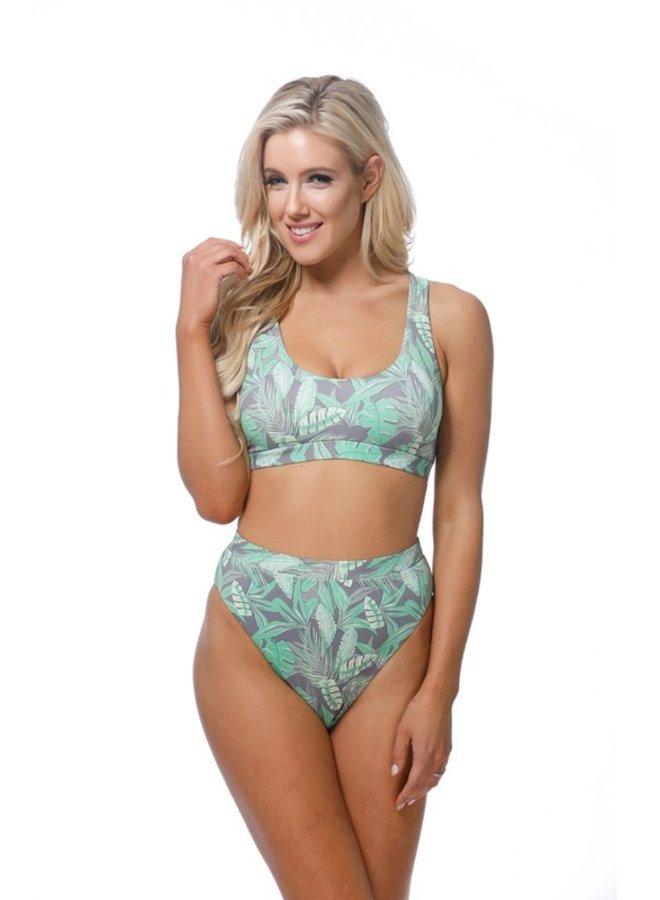 Tropical Print Bikini Top