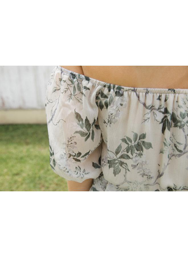Garden Party Chiffon Maxi Dress