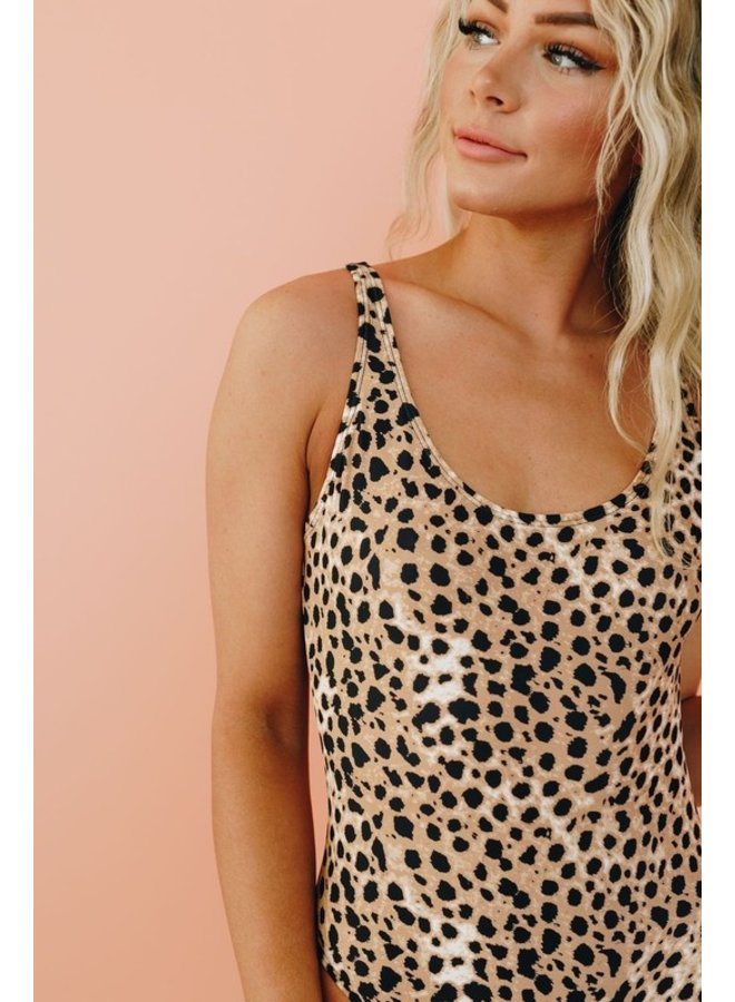 Leopard Low Back Swimsuit