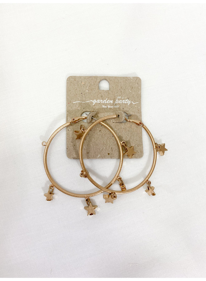 Dangle Star Hoops