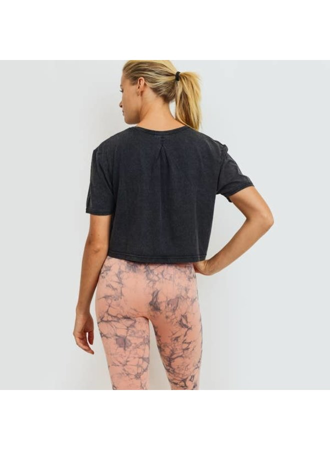 Pinched-Back Essential Athleisure Crop Top