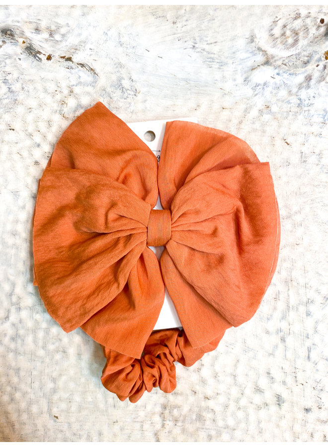 Terracotta Clip Bow with Scrunchie