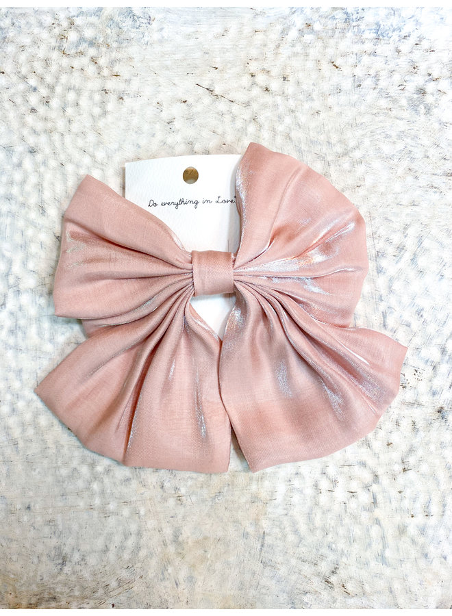 Pink Shimmer Clip Bow