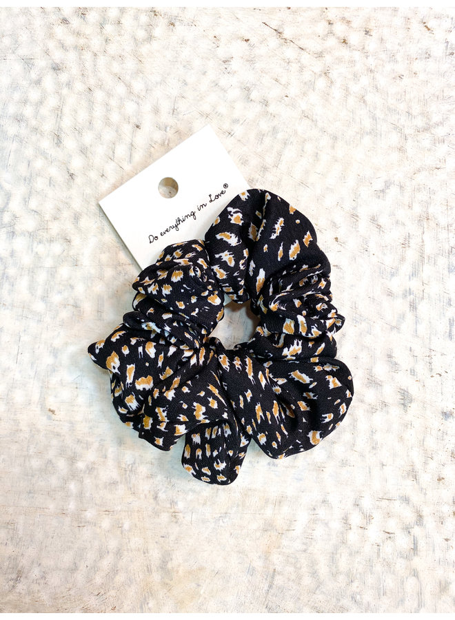 Black Cheetah Scrunchie