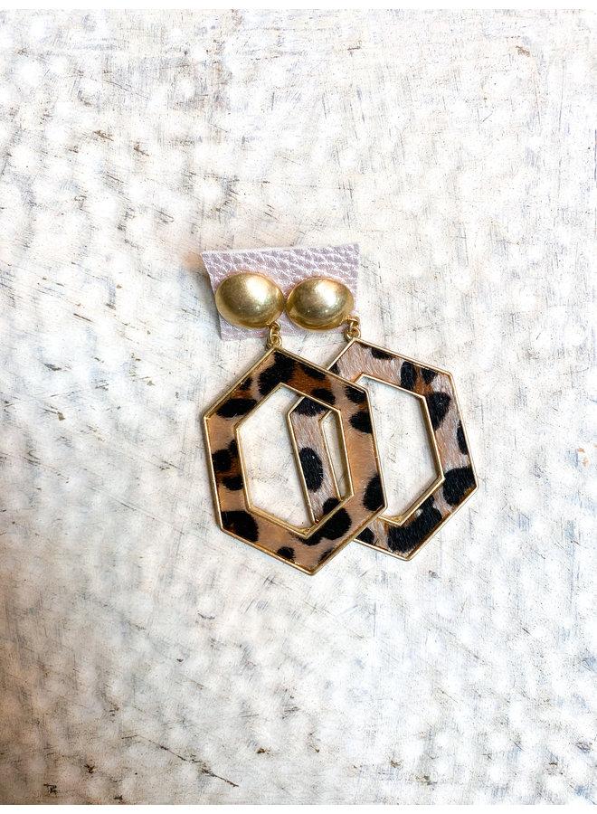 No. 3 Hexagon Earrings