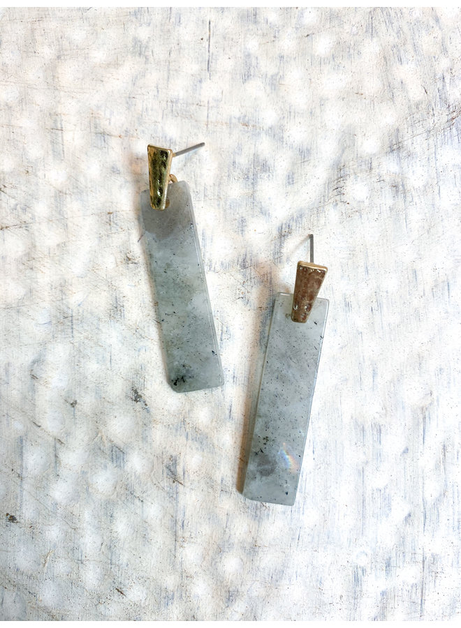 Semi Precious Stone Drop Earring