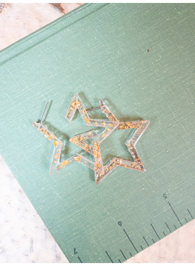 You Dazzle Me Star Hoops