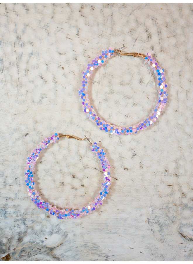 It's My Birthday Glitter Hoops