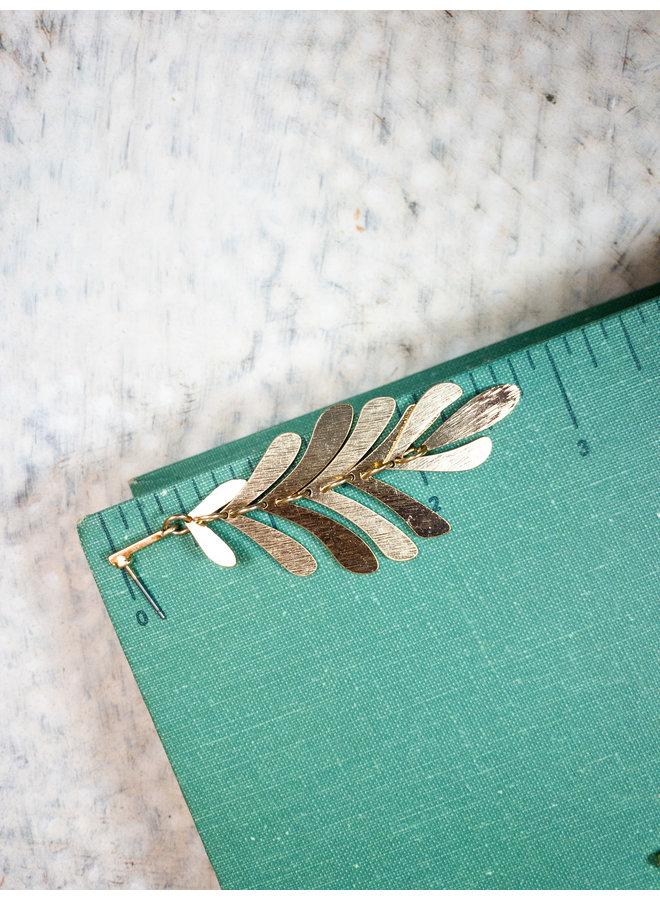 Golden Tail Dangle Earrings